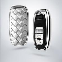 Lsrtw2017 Abs Car Remote Control Key Case for Audi A5 A4 A6 A3 Q3 Q5 Q7 Accessories lsrtw2017 leather car key case chain buckle chain for a4 a6 a3 q3 q5 q5 q7