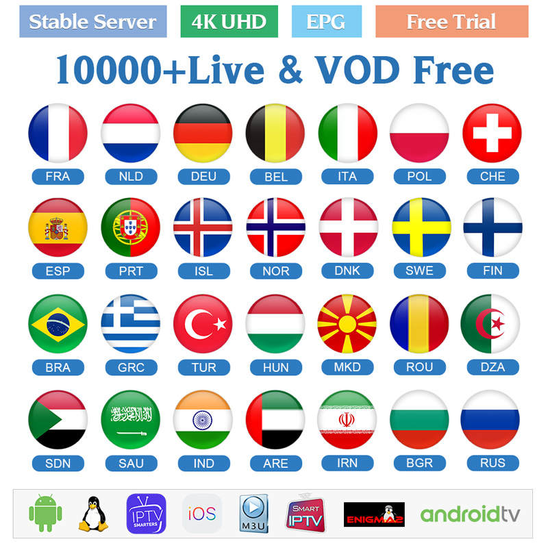 IPTV Italy Germany France Arabic IPTV Subscription Spain Portugal IPTV M3U Norway Finland Sweden Greek French IP TV Subscription