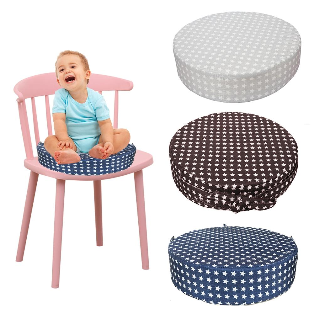 Baby Safe Dining Chair Cushion Baby Dining Chair Booster Cushion Detachable Children High Chair Cushion Star Chair Heightening Pad Children Chair Seat Product C