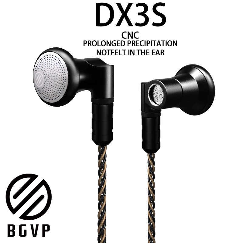 BGVP DX3s CNC płaskie słuchawki 3.5mm słuchawki douszne DIY monitor audio wymienny element słuchawek douszne dla audiofilów