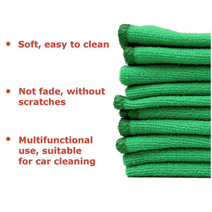 Image 5 - Onever 10pcs Microfiber Clean Auto Car Detail Soft Cloths Towels 25*25cm Home Kitchen Cleaning Tool Car Wash