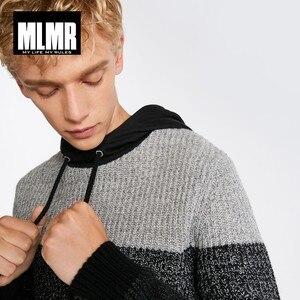 Image 4 - JackJones di Stile degli uomini di Cucitura di colore maglione con cappuccio 218425513