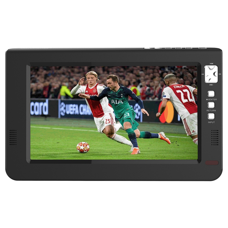 Portable 10.1 Inch TFT LED Dvbt2 Digital Analog TV 1080P HDMI IN H.265 Car Television Support USB TF Card Reader EU Plug|Car Monitors| |  - title=