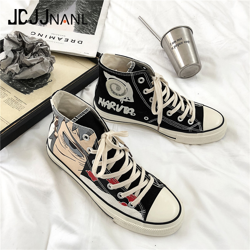 JCJJNANL 2019 Unisex Sneakers Spring Shoes Man High Top Sneakers For Men Canvas Shoes Shoes Boys Sneakers Classic Naruto