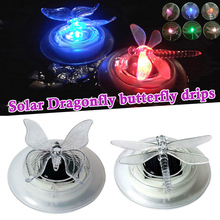 Solar LED Float Lamp RGB Color Change Butterfly Dragonfly Outdoor Pond Water Light LB88