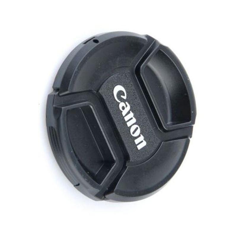 1Pc Snap-on Front 58mm Len Cap Cover Straps For Canon Eos EF 18-55-250 Black Center Pinch Snap-on Cap Cover For Canon/nikon Lens
