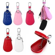 Классические кожаные сумки для автомобильных ключей для мужчин и женщин, держатель для ключей с крокодиловым узором, органайзер, кошелек на...