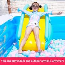 Inflatable Waterslide Wider Steps Joyful Swimming Pool Supplies Slide Bouncer Kids Water Play Recreation Facility