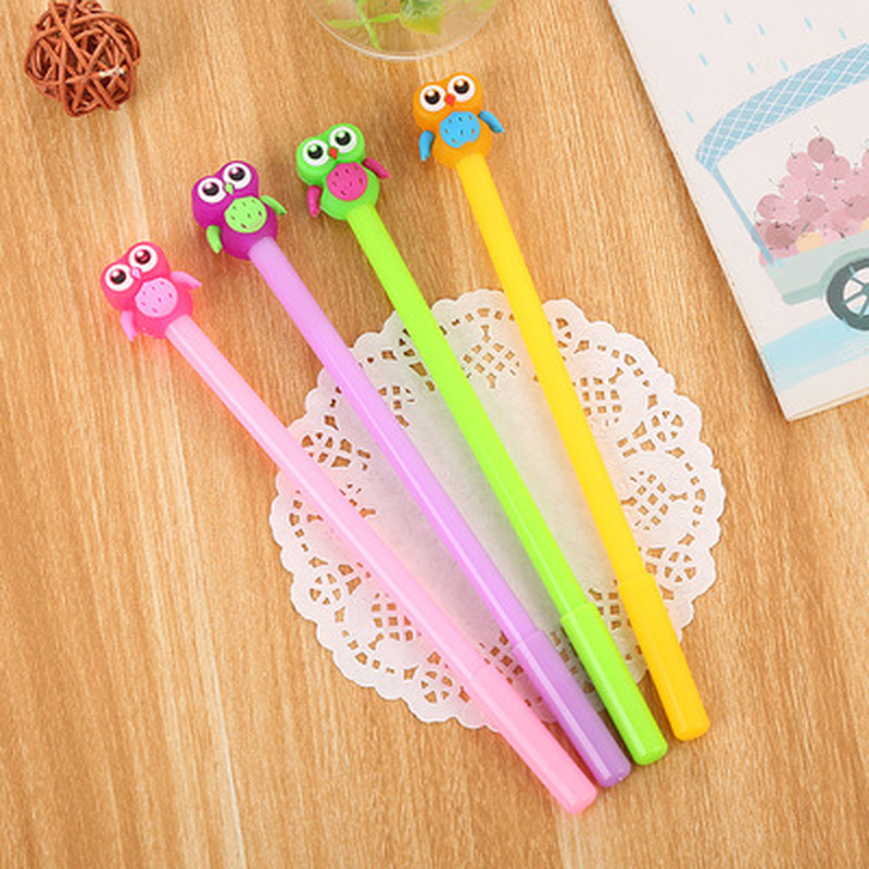 1pcs Jelly Owl Gel Pen0.5mm Cute Pens Student Cartoon Gel Pens Novelty Stationery Kawaii Writing Pen Kawaii School Supplies