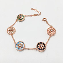 Fashion hot copper Fritillaria Bracelet eight star disc lady elegant jewelry girl versatile accessories