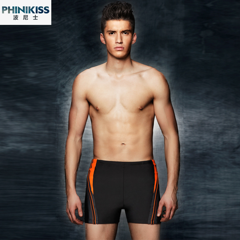 PHINIKISS New Style Waterproof Quick-Drying Large Size Plus-sized Profession Racing MEN'S Swimming Trunks Swimwear