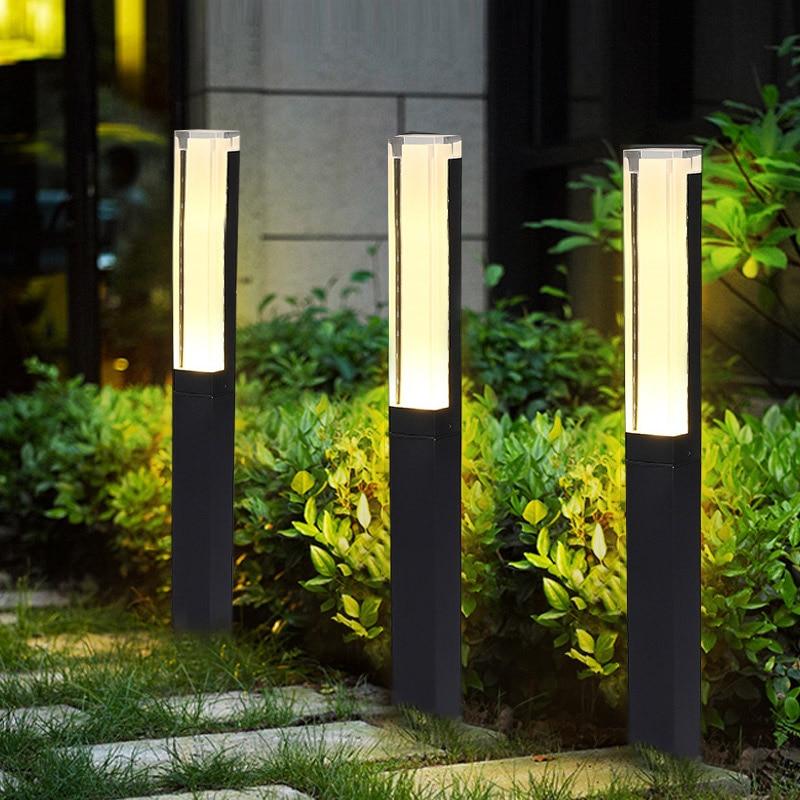Baru Led Bollard Lampu Taman Aluminium Square Ip65 Tahan Air Modern Sederhana Lampu Hias Outdoor Taman Yard Pemandangan Lampu Rumput Lampu Aliexpress