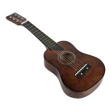 Гитара Мини 25 дюймов липа акустическая 12 ладов 6 струн гитара с палочками и струнами для детей начинающих музыкальный инструмент игрушка