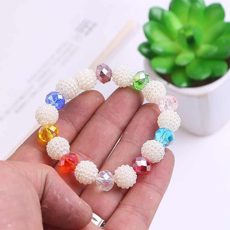 Brazaletes de perlas de cristal indio hechos a mano Retro Bohemia amor Sanación para Mujeres joyería novias graduación