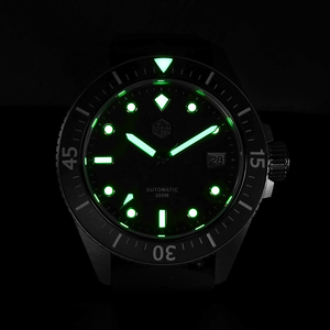 Image 5 - San Martin Diver Men Watch Stainless Steel NH35A Automatic Mechanical Sapphire Glass Rubber Strap Luminous Water Resistant 200M