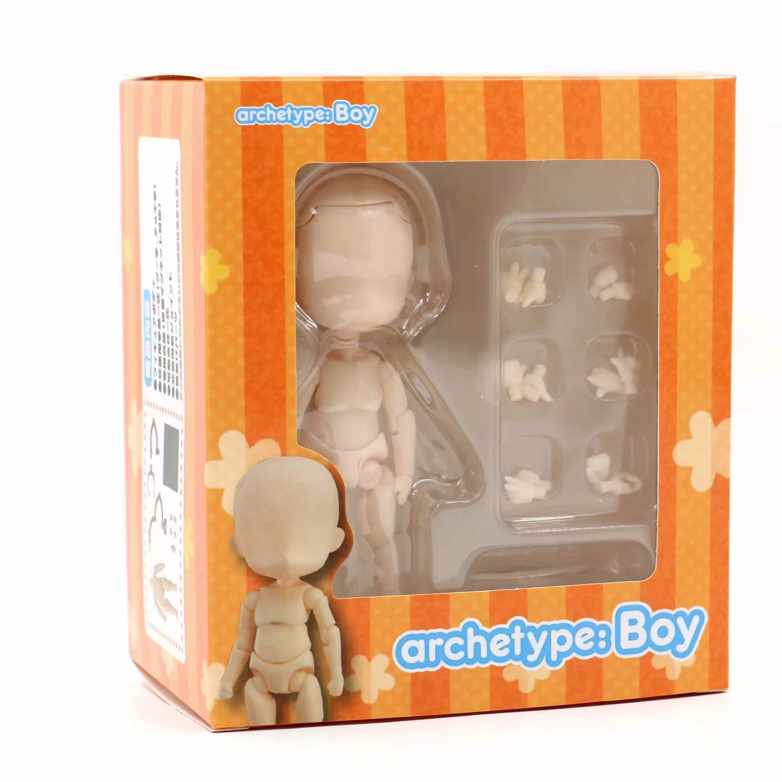 Japan GSC Nendoroid Child Body Kun Boy Movable Action Figure Collectible Model Toy With Base And Head