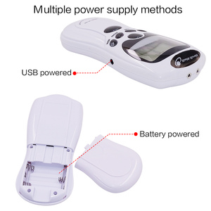 Image 2 - 1 Set Dual Channel 8 Tens Unit Electronic Therapy Body Neck Massager Pulse Meridian Machine Muscle Stimulator Glove Sock Bracer