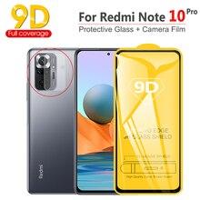 Pelicula Xiaomi Redmi Note 10 Pro Screen Protector, 9D vidro proteção película Note10/10Pro câmera filme + protetor pelicula Redmi-Note 10 Pro glass