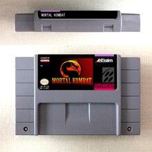 Mortal Kombat lub Mortal Kombat II lub ostateczny Mortal Kombat 3 karta gry akcji wersja amerykańska język angielski