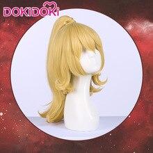 DokiDoki Game Cosplay Wig Super Mario Bowsette Women Golden Hair Heat Resistant