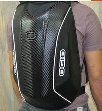 Ogio mach 5 moda de fibra carbono poderoso armazenamento capacete viagem motocicleta mochila equitação corrida mochila vários modelos