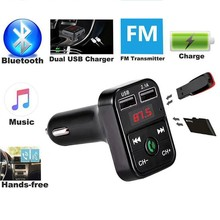 Bluetooth 5.0 Fm-zender Auto MP3 Speler Dual Usb 2.1A Fast Charger Auto Muziekspeler Fm Modulator Audio Frequentie Radio