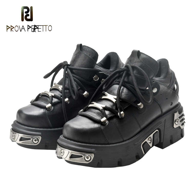 Prova Perfetto new autumn and winter 2019 heavy metal wind thick sole movement wisdom smoke ultra fire sponge cake shoes