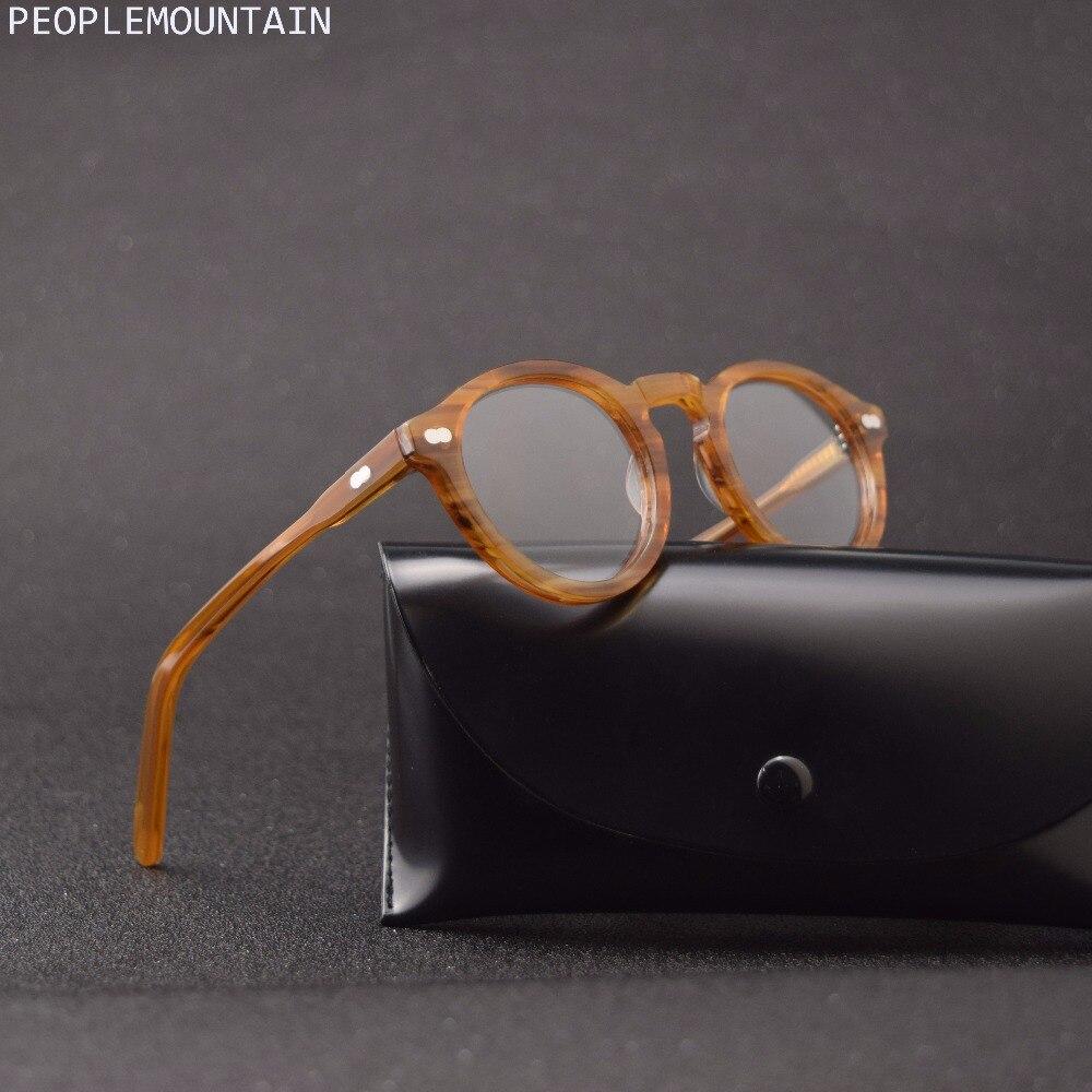 Small Round Optical Glasses Frame Men Women Johnny Depp Glasses Computer Transparent Eyeglass Brand Design Acetate Vintage Style