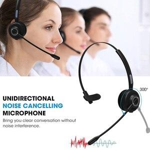 Image 3 - Cancelamento de ruído sem fio vídeo conferência com base de carregamento microfone bluetooth fone de ouvido aviação motorista de caminhão handsfree mono