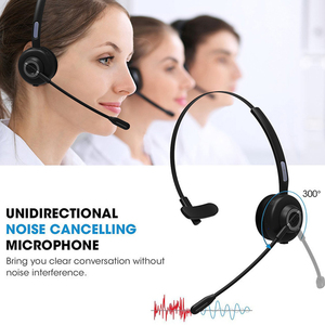 Image 3 - Noise Cancelling Wireless Video Conference With Charging Base Microphone Bluetooth Headset Aviation Handsfree Truck Driver Mono