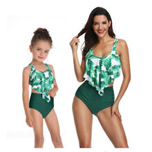 Family Matching Outfit Swimwear Mother Daughter Floral Swimsuit Women Tankini