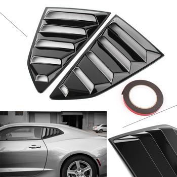 Czarny błyszczący samochód tylna boczna okno żaluzji otworów wentylacyjnych pokrywa wykończenia do Chevy Camaro 2016 2017 2018 tanie i dobre opinie CN (pochodzenie) Iso9001 ABS Plastic Stylowe listwy Hiszpania RUSSIA Stany zjednoczone i kanada