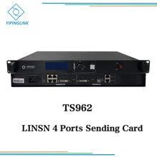 Linsn ts962 novo remetente caixa de envio de cartão com lcd e hdmi dvi monitor de saída para tela de palco de aluguel
