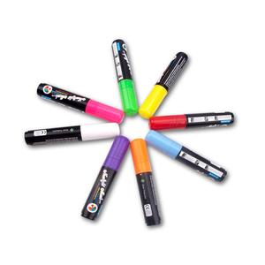 Image 3 - 8Pcs 10mm re LED highlighter Neons Writing Board Marker Fluorescent Liquid Chalk Pen for Drawing Painting Writing Art Support