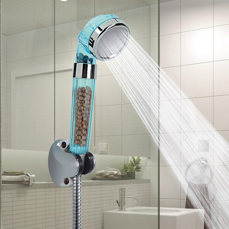 VEHHE Massage SPA Shower Anion Fliter High Pressure Shower Head Health Water Therapy Water Saving Rianfall Shower Heads