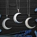 Ожерелье с большим полумесяцем и луной, фазовый языческий Готический амулет в стиле ведьмы, Викканская подвеска, волшебное украшение в стил...