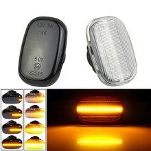 Luz LED de posición lateral para coche, lámpara secuencial de señal dinámica para Toyota Corolla, Camry, Starlet, Paseo, Gaia, Harry, MR, Lexus RX 300