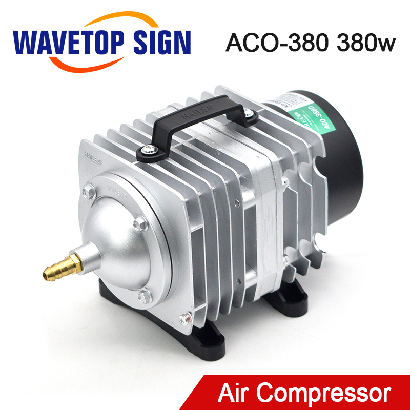 WaveTopSign 380W ACO-380 Air Compressor Electrical Magnetic Air Pump for CO2 Laser Engraving Cutting Machine
