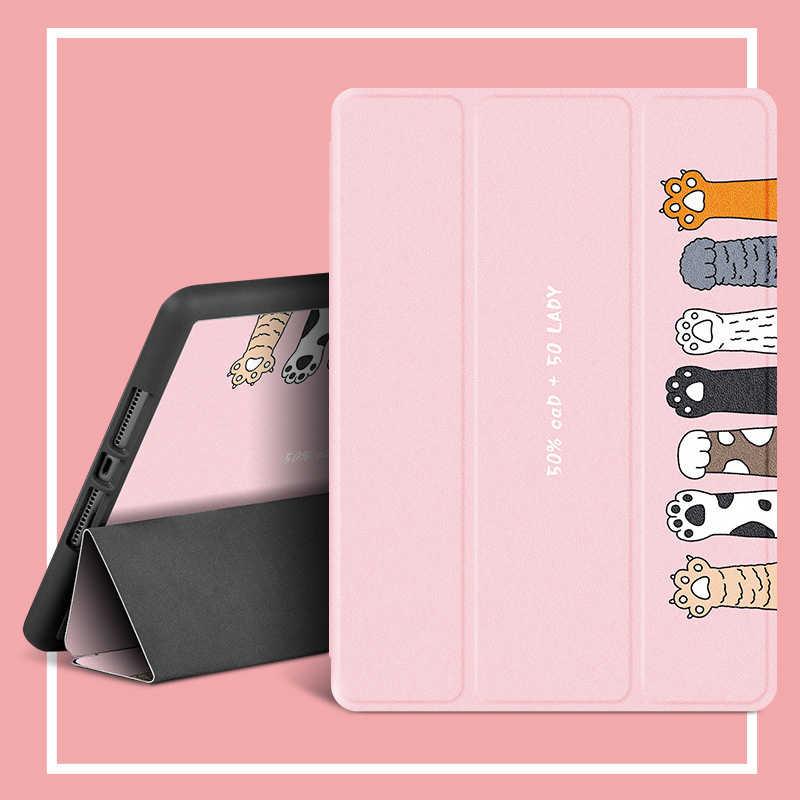 Met Potlood Houder Voor Ipad Pro 10 5 Case 2020 Pu Leather Folding Stand Smart Case Voor Funda Ipad Pro 11 Cover 7th Generatie Hoezen Voor Tablets En E Books Aliexpress