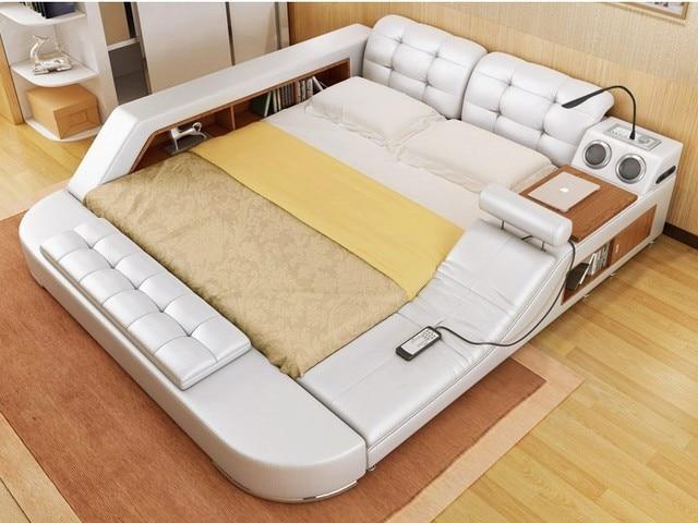 Europe and America fabric cloth bed massage Modern Soft Beds Home Bedroom Furniture cama muebles de dormitorio / camas quarto 1