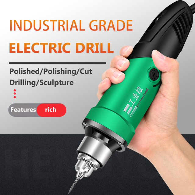 260W/480W high-power electric drill engraving machine with flexible shaft 6-position variable speed Dremel rotary power tool 1