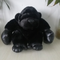 large 40x35cm lovely orangutan plush toy boxing gorilla soft doll toy,birthday gift b2585