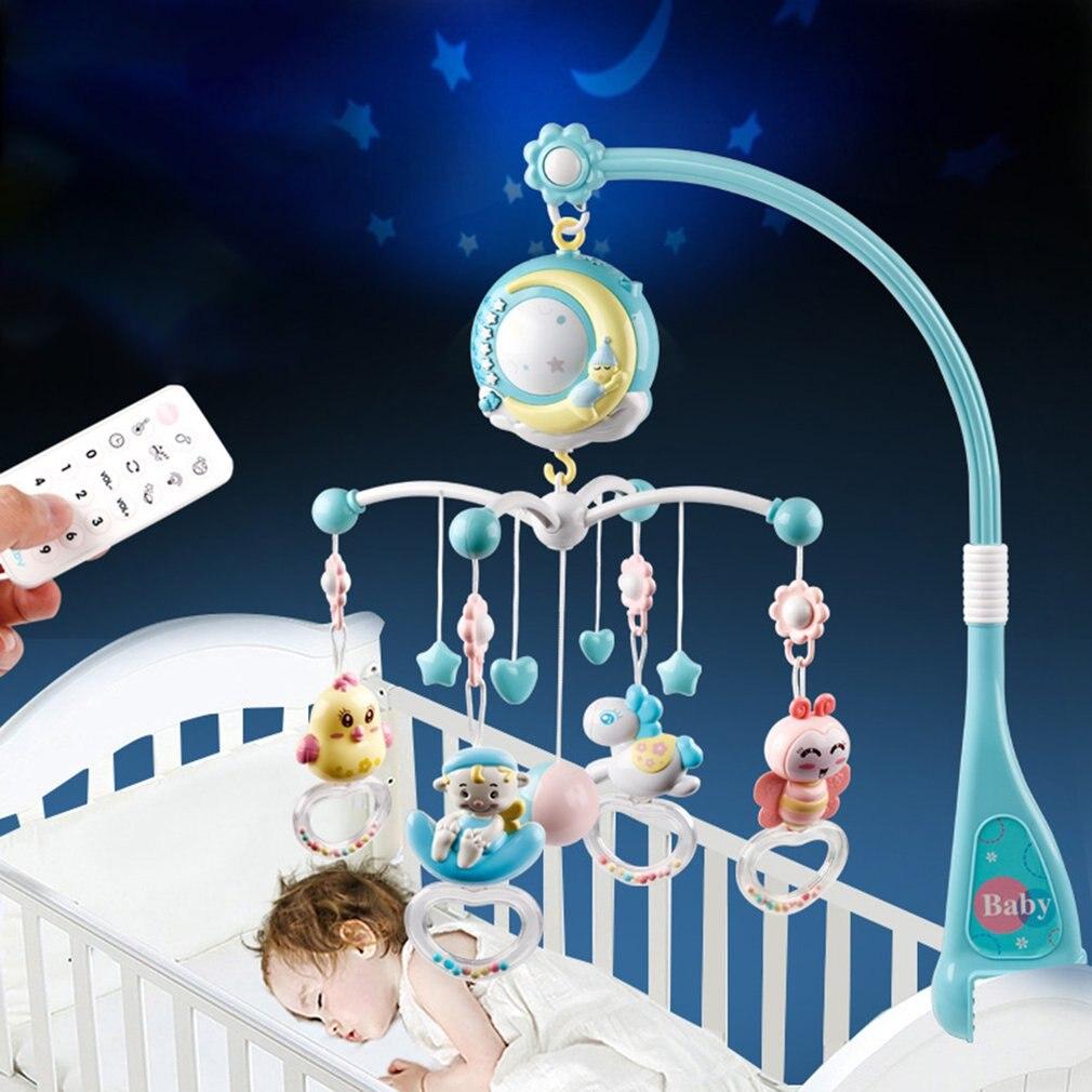 Детские погремушки в кроватку, держатель для мобильных телефонов, вращающийся мобильный колокольчик, Музыкальная Коробка, проекция, 0-18 мес...