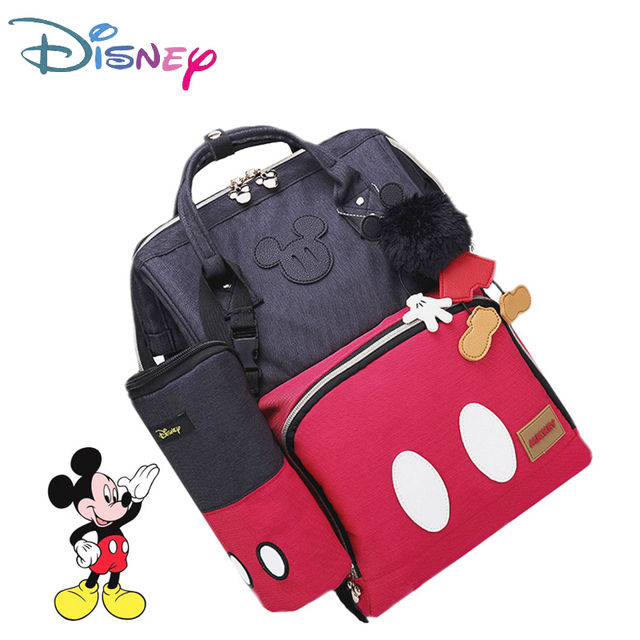 Disney 3D Doll Minnie Mickey Classic Red Diaper Bags Mummy Maternity Backpack Nappy Bag Large Capacity Baby Care Bag For Travel | Happy Baby Mama