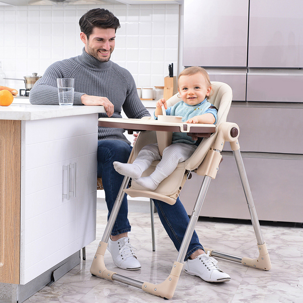 Upgrade With Wheels Newborn Baby Chair Portable Infant Seat Adjustable Folding Baby Dining Chair High Chair Baby Feeding Chairs
