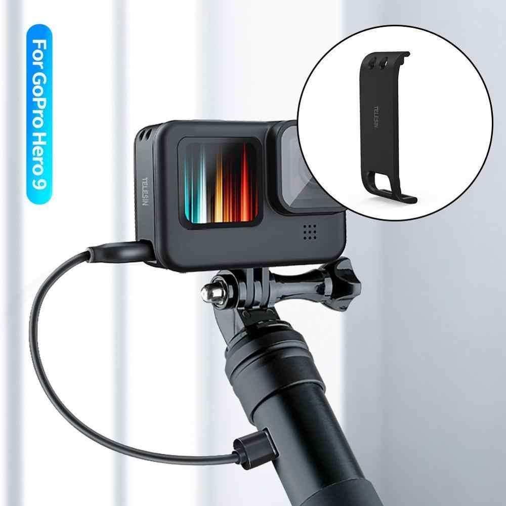 Untuk GoPro Hero 9 Olahraga Kamera Penutup Sisi Pelindung Hitam Baterai Isi Ulang Tutup Case Olahraga Aksesoris Kamera