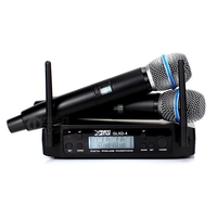 GLXD4 Dual Channel Digital UHF Wireless Microphone System With 2 Handheld Cordless Mic Beta87a BETA 87A For Karaoke Stage Singer