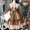 Kawaii Lolita Style Dress Women Lace Maid Costume Dress Cute  Japanese Costume Sweet Gothic Party Robe Renaissance Vestidos 2020 4