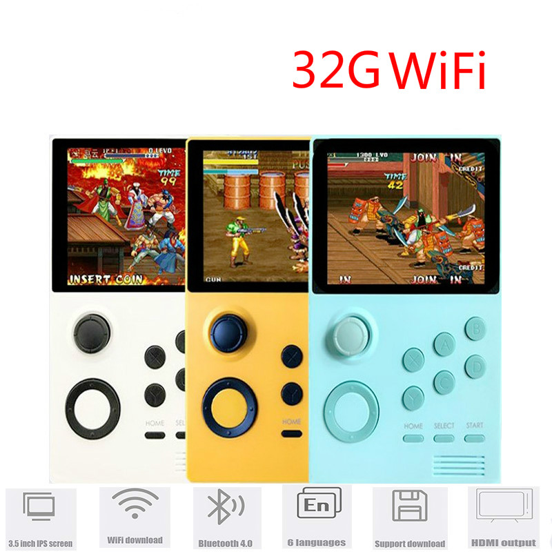 WEDOIT Pandora's Box Android supretro handheld game console IPS screen built-in n64 games 30 3D games WiFi download mame game image