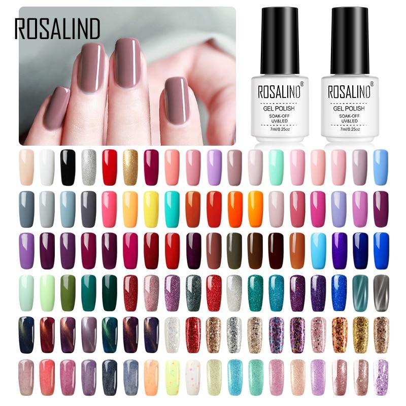Розалинд гель лак для ногтей лак Полупостоянный УФ Гибридный гвоздь Art Гель лак-эмаль для ногтей Топ Base Coat от Gellak белый грунт